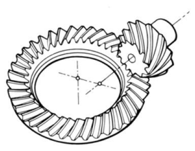 Hypoid Gear internal of Gear Motor