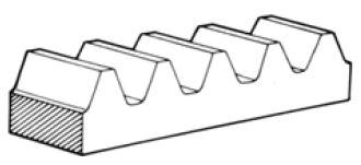 Gear Rack internal of Gear Motor