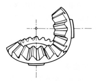 Straight Bevel Gear internal of Gear Motor