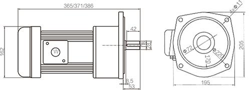 Shaft Size 28mm Medium Gear Motor Vertical