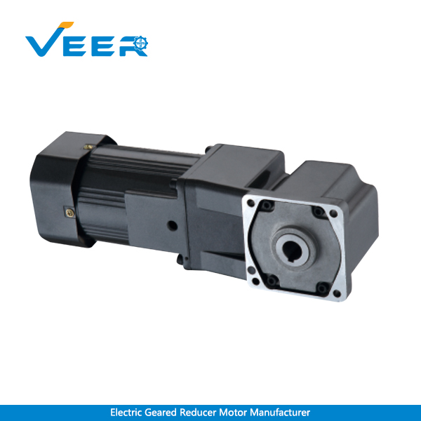 25W 4GN AC Right Angle Gear Reducer Motor, Solid Shaft Right Angle Geared Motor, Hollow Shaft Right Angle Geared Motor, Geared Motor Manufacturer, High-performance Gear Motor, VEER Geared Motor