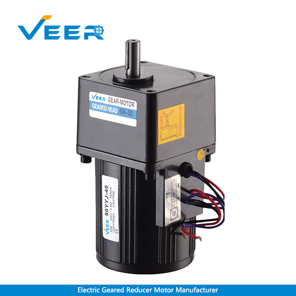 40W Small AC Gear Reducer Motor, Geared Motor, Geared Motor Manufacturer, High-performance Gear Motor, VEER Geared Motor