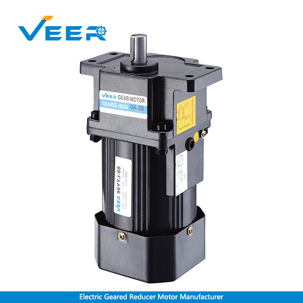 60W GS Small AC Gear Reducer Motor, Geared Motor, Geared Motor Manufacturer, High-performance Gear Motor, VEER Geared Motor
