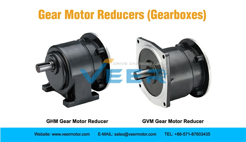 Veer Motor manufactures helical type and worm type gear reducer (gearboxes) for gearmotor. All of our gear speed reducers have excellent quality and power transmission applications.